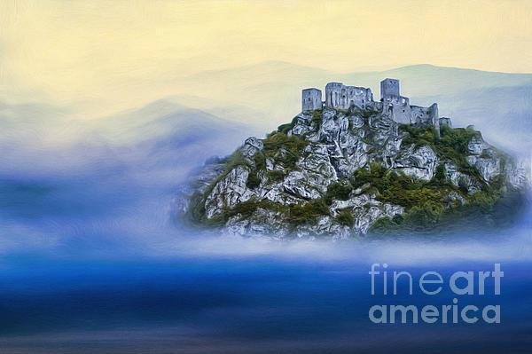 Castle In The Air V. - Strecno Castle Print by Martin Dzurjanik