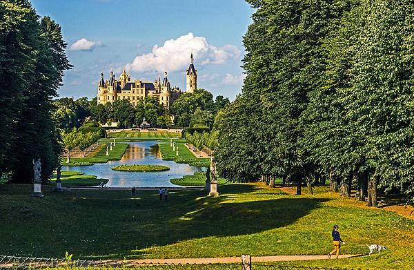 Castle Of Schwerin Landscape Print by Michael Lobisch-Delija