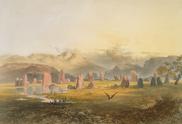 Castlerigg Stone Circle Near Keswick Print by James Baker Pyne