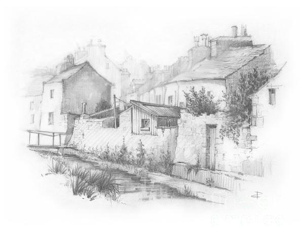 Castletown Sketch Print by Paul Davenport