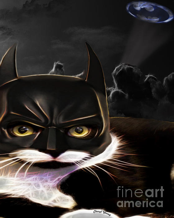 Cat Crusader Print by Cheryl Young