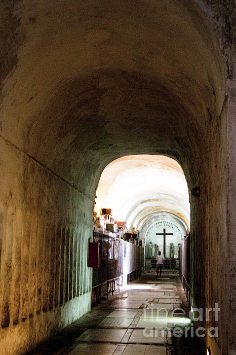 Catacombs In Palermo Print by David Smith