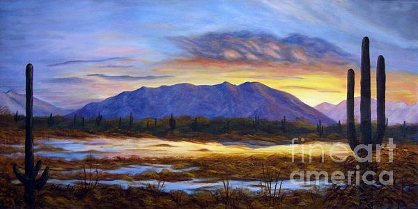 Catalina Sunrise Print by Judy Filarecki