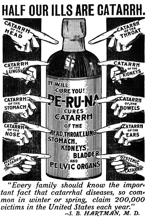 Catarrh Cure For What Ails You C. 1905 Print by Daniel Hagerman
