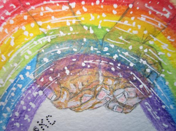 Catching A Rainbbow Print by Kathy Marrs Chandler