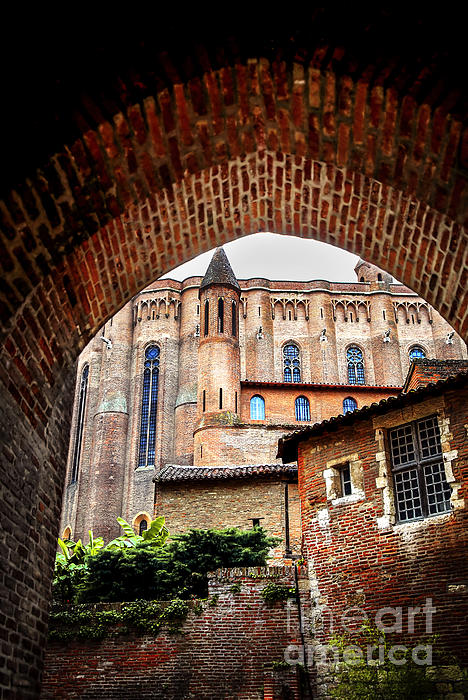 Cathedral Of Ste-cecile In Albi France Print by Elena Elisseeva