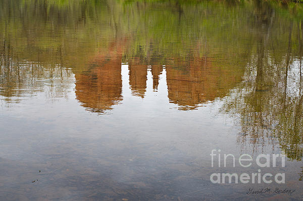 Cathedral Rock Reflections Print by Dave Gordon