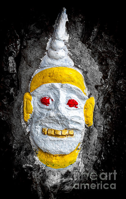 Cave Face 4 Print by Adrian Evans