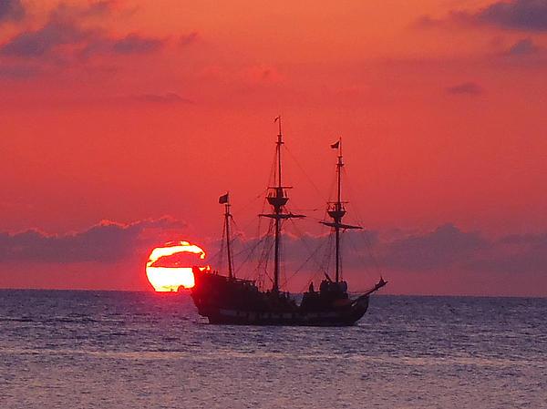 Cayman Sunset Print by Carey Chen