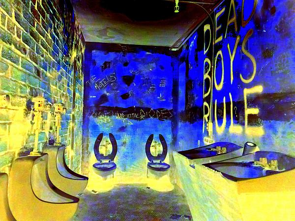 Cbgb's Notorious Mens Room Print by Ed Weidman