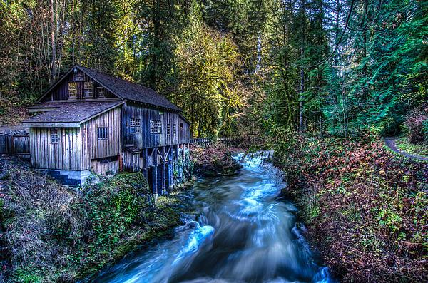 Cedar Creek Grist Mill Print by Puget  Exposure