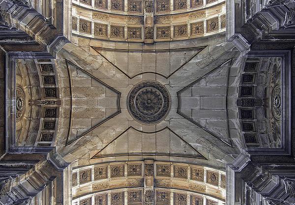 Ceiling  Arcoarua De Augusta Print by Nathan Mccreery