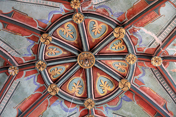 Ceiling Medallion Tepoztlan Print by Linda Queally