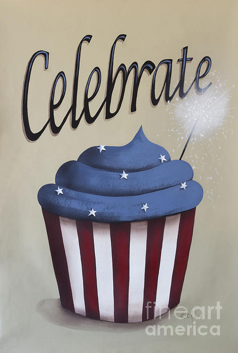 Celebrate The 4th Of July Print by Catherine Holman