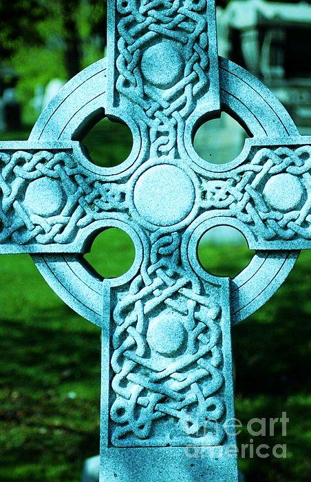Celtic Cross Print by Kathleen Struckle