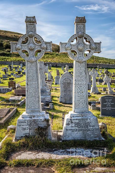 Celtic Crosses Print by Adrian Evans