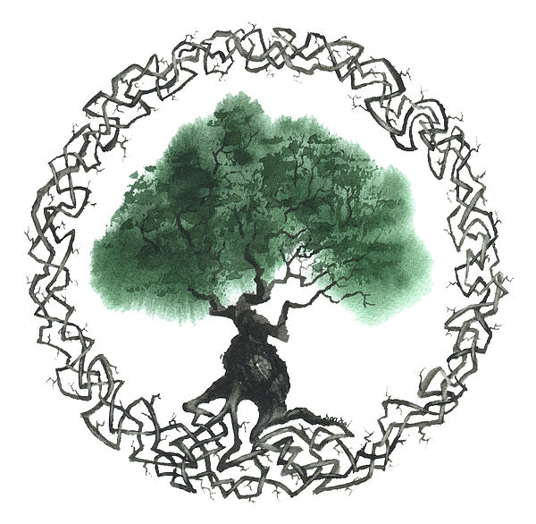 Celtic Tree Of Life 2 Print by Sean Seal