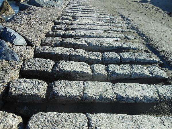 Cement Trails Print by Sean Sullivan