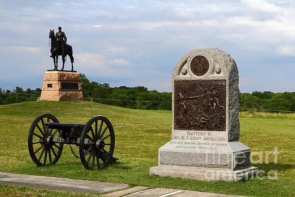 Cemetery Ridge Gettysburg Print by James Brunker