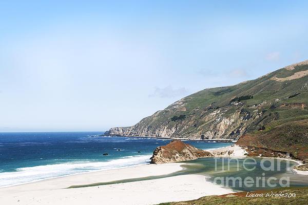 Central Coast Beach Near Cambria And San Simeon Print by Artist and Photographer Laura Wrede