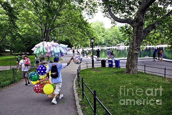 Central Park Balloon Man Print by Madeline Ellis