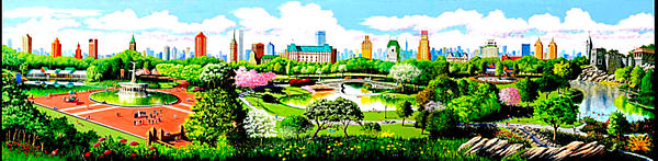 Central park mural by robert ammon for Central park mural