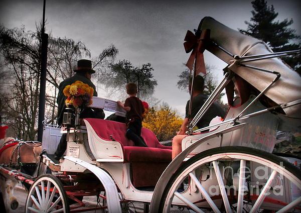 Central Park New York - Romantic Carriage Ride 2 Print by Miriam Danar