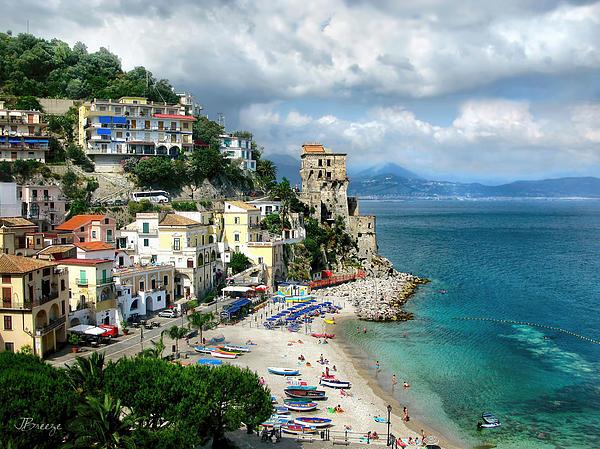 Cetara. Amalfi Coast Print by Jennie Breeze