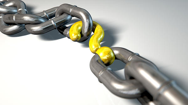 Chain Missing Link Question Print by Allan Swart