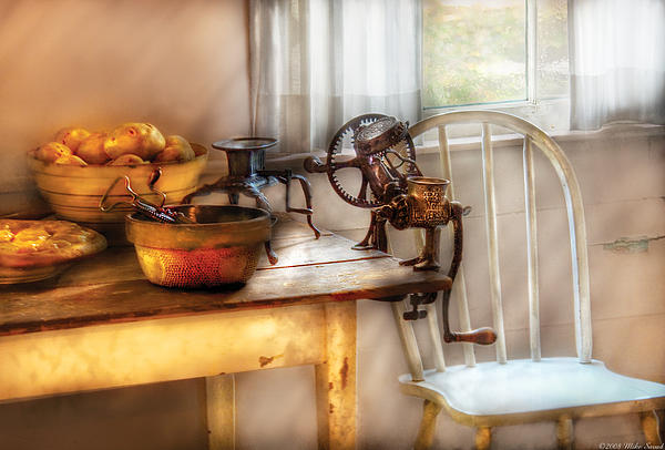 Chair - Kitchen Preparations Print by Mike Savad