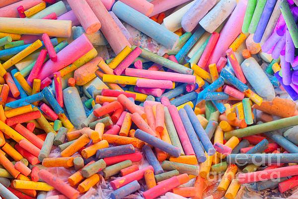 Chalk Colors Print by Alixandra Mullins