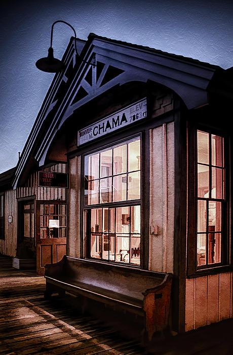 Chama Train Station Print by Priscilla Burgers