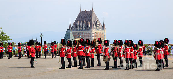 Changing Of The Guard The Citadel Quebec City Print by Edward Fielding
