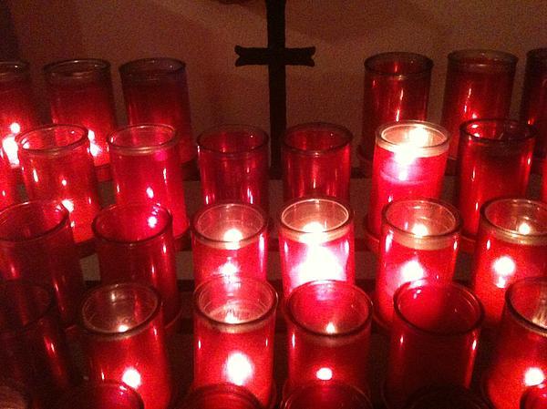 Chapel Candles Print by Tina Nies