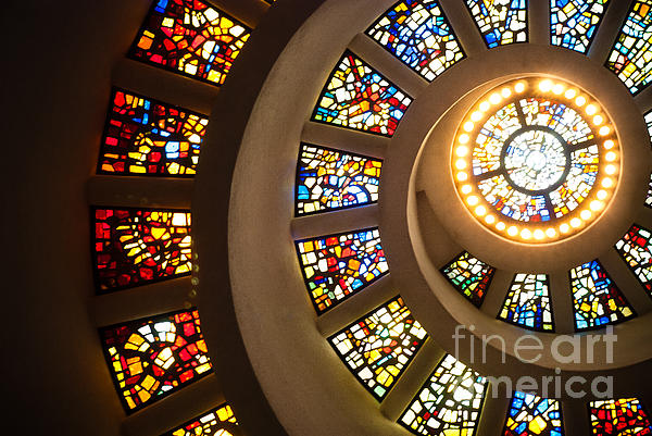 Chapel Of Thanksgiving Dallas Print by Sonja Quintero