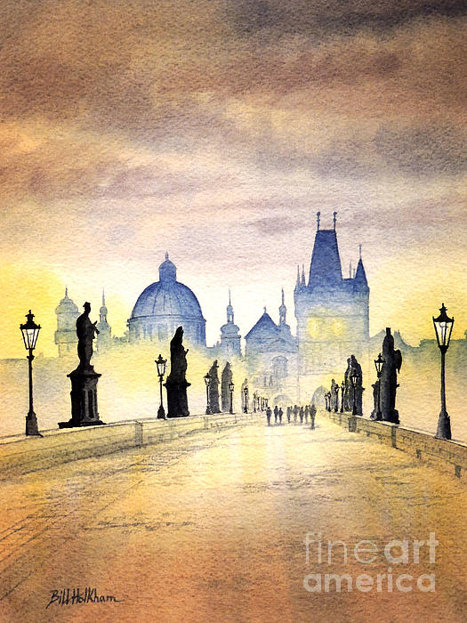 Charles Bridge Prague Print by Bill Holkham