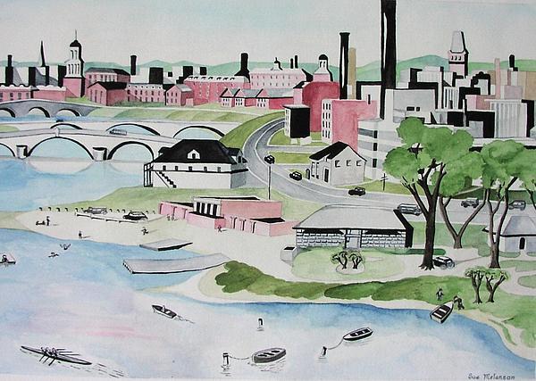 Charles River Print by Sue Melanson