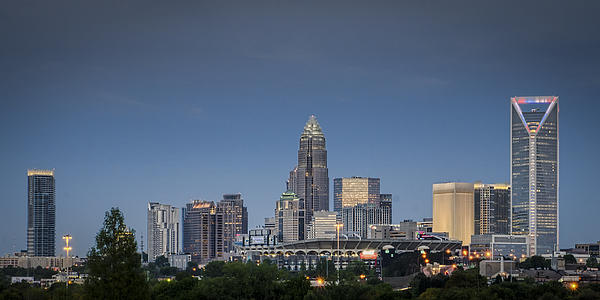 Charlotte Skyline - Clear Evening Print by Brian Young