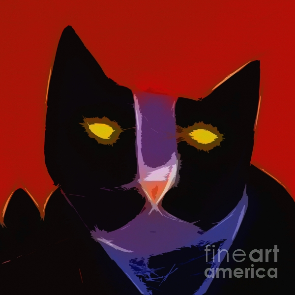 Chat Noir Print by Lutz Baar