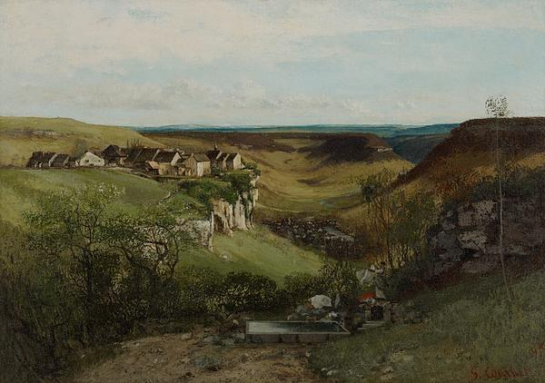 Chateau Dornans Print by Gustave Courbet