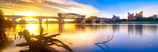 Chattanooga Sunrise 2 Print by Steven Llorca