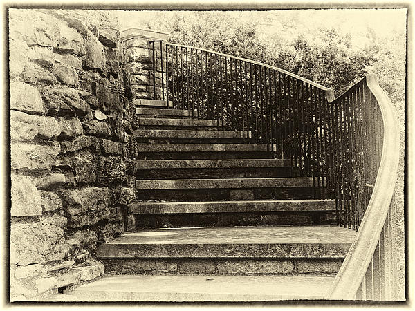 Cheekwood Stairs Cropped Print by Mark Furnell
