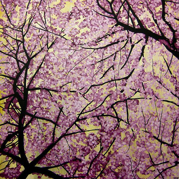 Cherry Blossoms Print by Bobby Zeik