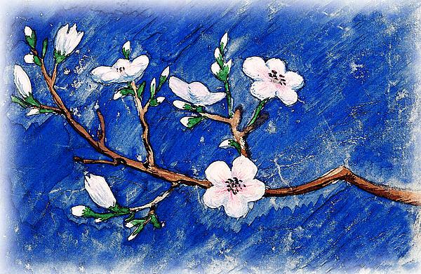 Cherry Blossoms Print by Irina Sztukowski