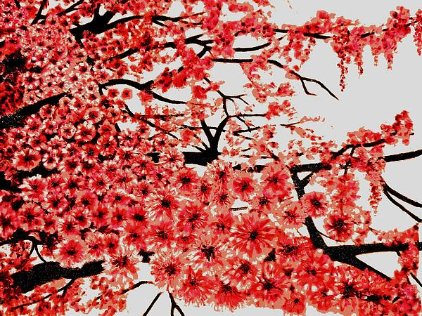 Cherry Blossoms Print by Victoria Rhodehouse