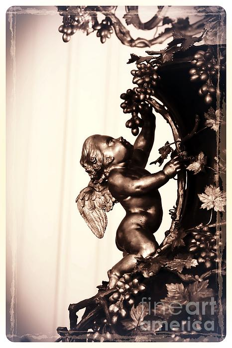 Cherub In Sepia Print by Carol Groenen