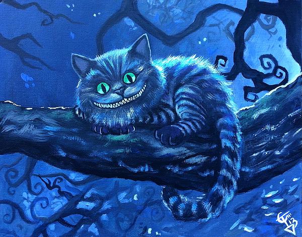 Cheshire Cat Print by Tom Carlton