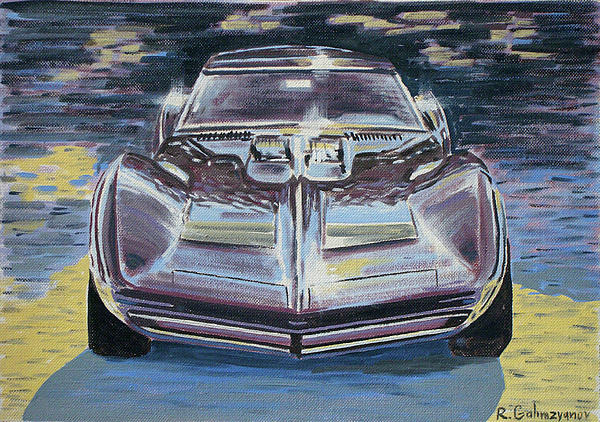 Chevrolet Corvette Print by Rimzil Galimzyanov