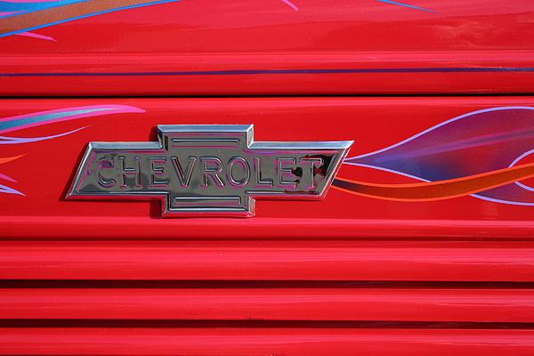 Chevrolet Emblem Print by Carol Leigh