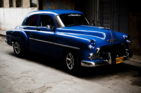 Chevrolet In Havana Print by Dan  Grover